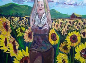 Live Action Expressionist Portrait - Yogini Caroline Karp the Sunflower Girl