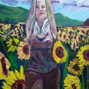 Live Action Expressionist Portrait - Yogini Caroline Karp the Sunflower Girl