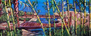painting of a bridge by Caroline Karp Artist