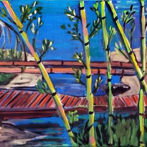 painting of a bridge by Caroline Karp Artist