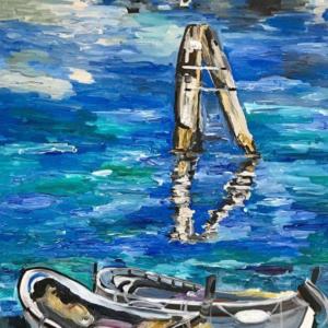 painting of gondolas
