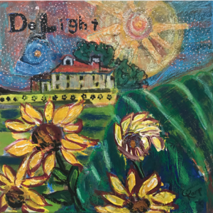 WORD OF iNTENTION MIXED MEDIA painting called Delight