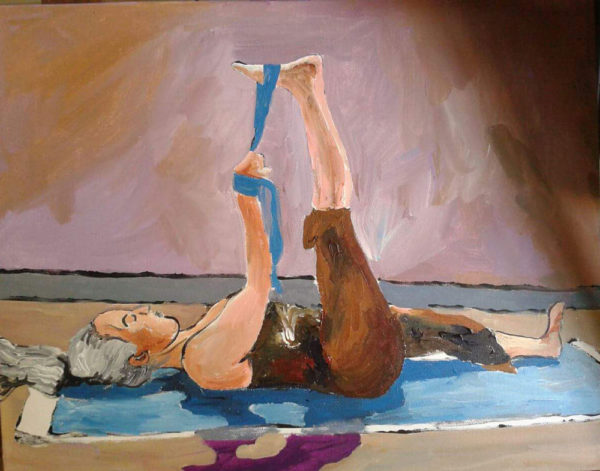 Live Action Expressionist Portraits - Yogini in Reclined Big Toe Pose