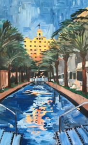 Infinity pool at South Beach Miami
