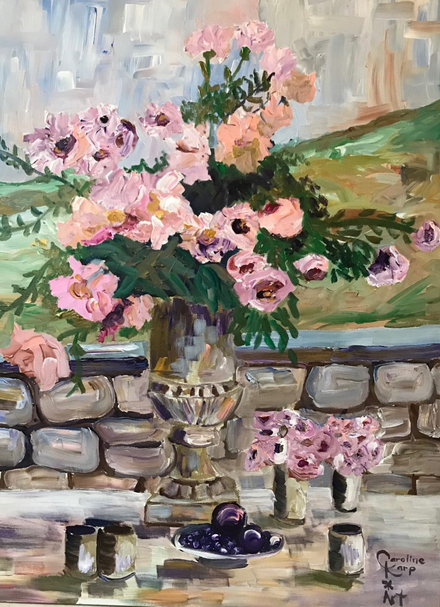 expressionist painting of flowers