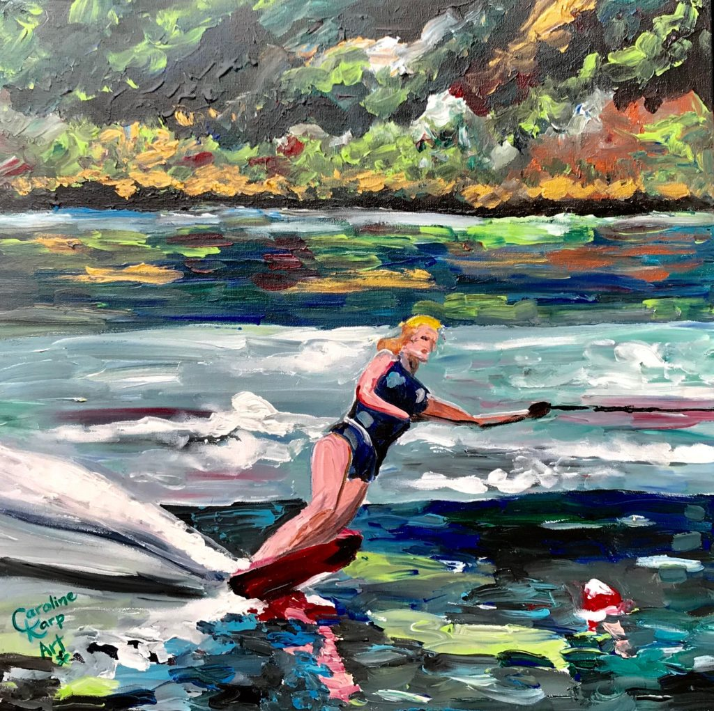 Live Action Expressionist Portrait - Lynn Carnes Water skier