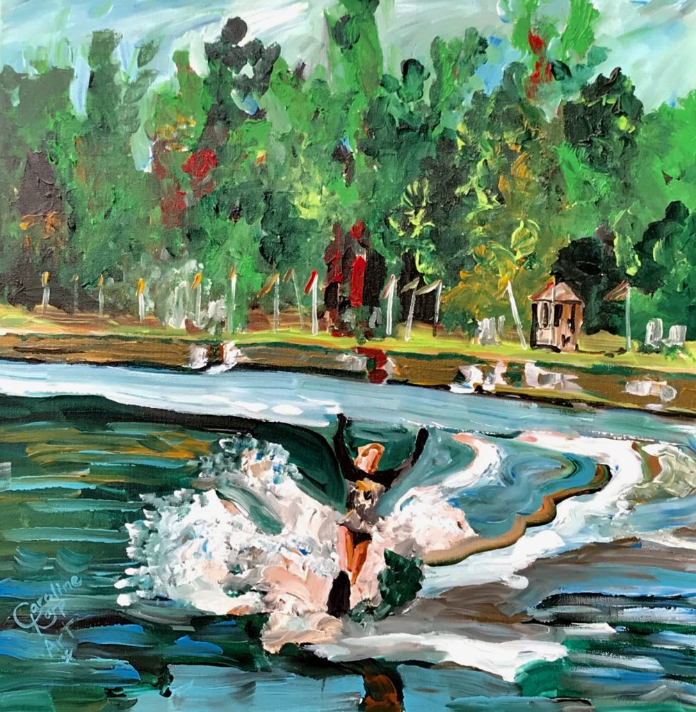 Live Action Expressionist Portrait - Shirley Coble Water Skier