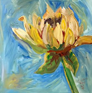 painting of a dahlia