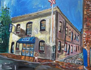 painting of the dog tag bakery with